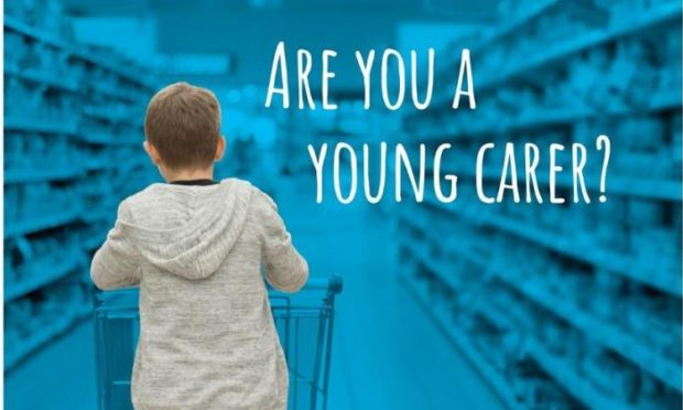 One of the posters highlight the roles of young carers