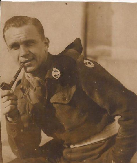 Bill Hilton in his army uniform