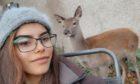 Elizabeth and the deer