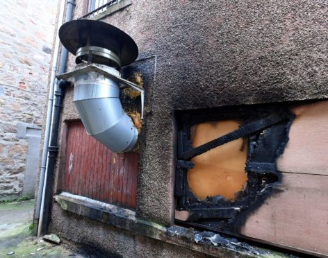 The Duo Duo Chinese restaurant was left with a burnt window area after a spate of fires