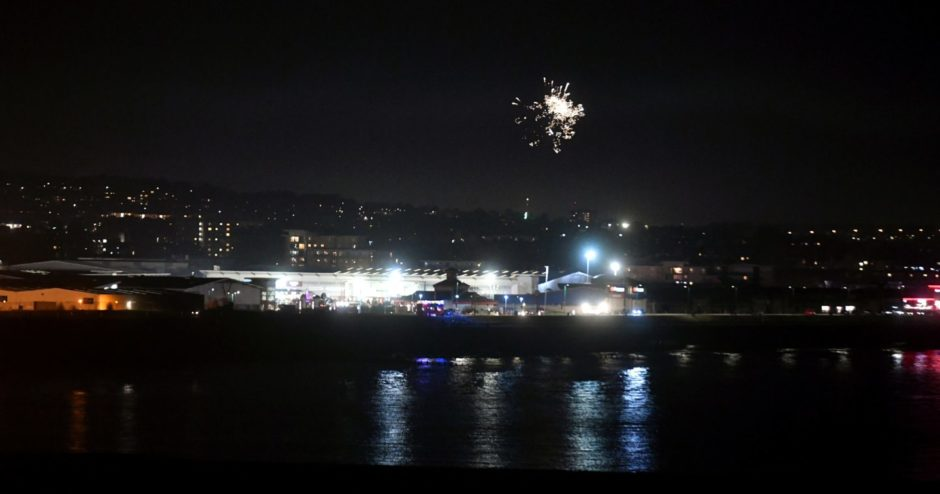 Fireworks in the Aberdeen sky. Pic by Chris Sumner