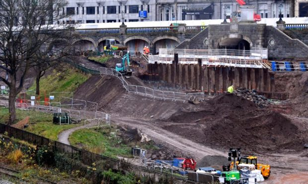 Work on Union Terrace Gardens began last year.