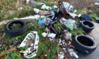 """The fly-tipping was labelled as """"disgusting""""."""
