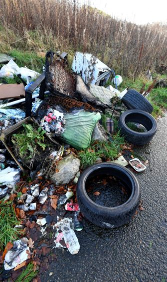 "The fly-tipping was labelled as ""disgusting""."