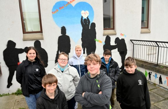 The young people of Woodside showcased their work from a recent graffiti art workshop at Woodside Fountain Centre.