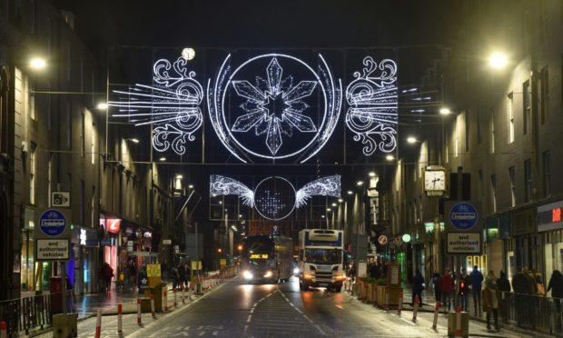Christmas lights on Union Street