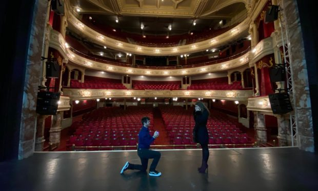 Jonny Lees proposed to his girlfriend on the stage at HMT
