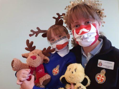 Isla and Alex Bagworth from 11th Aberdeen Girls' Brigade company