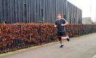 Kieran Fraser is running a marathon to raise funds for Chest, Heart and Stroke Scotland.