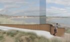 An artist impression of the newburgh beach viewing platform
