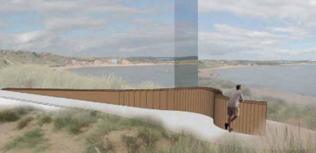An artist impression of the newburgh beach viewing platform