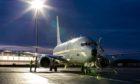 Spirit of Reykjavik P-8A Poseidon arrives at RAF Lossiemouth.