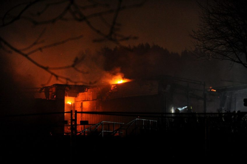 Fire at the former Bucksburn Primary School