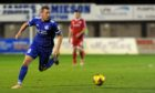 Scott Brown in action for Peterhead before lower league football was paused.