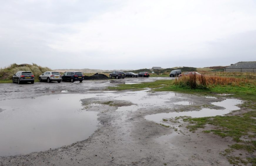 The current state of the car park at Newburgh.