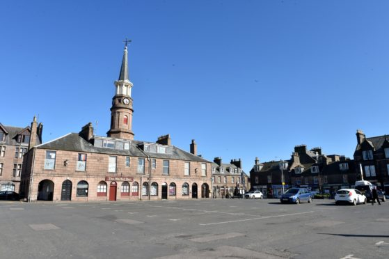 The Market Square in Stonehaven