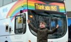 Nine-year-old Adam Foster's design will adorn buses across Scotland.