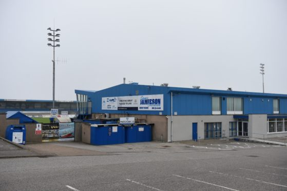 Peterhead's Balmoor Stadium has been unable to welcome fans since March