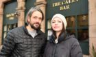 Carl and Robin Hansen, owners of The Caley Bar in Peterhead.
