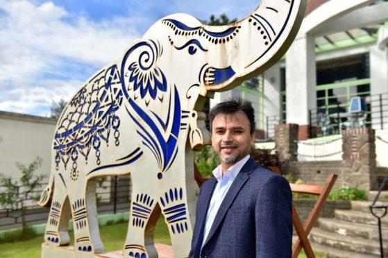 Raj Hamed, owner of Carron to Mumbai. Picture: Scott Baxter.