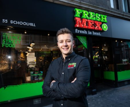 Robbie Moult who runs Fresh Mex in Aberdeen.