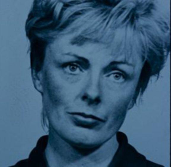 Shelia Garvie's police mugshot.