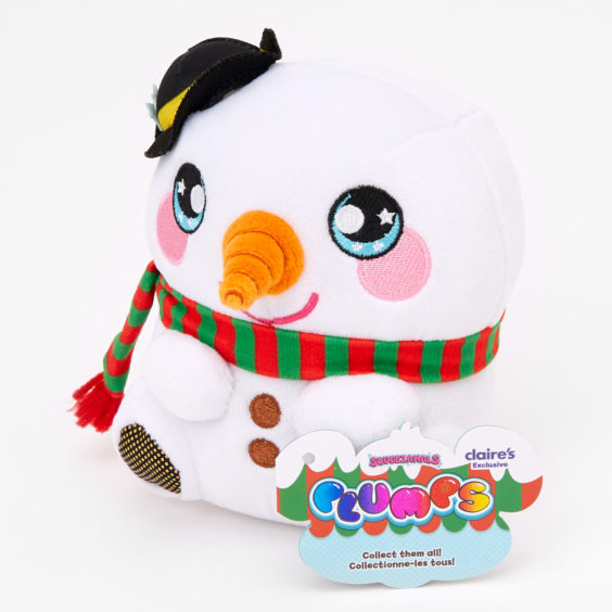 Squeezamals™ Plumps Snowman Soft Toy - Exclusive to Claire's