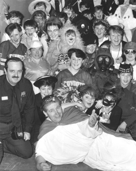 1987: As part of Aberdeen's Summerhill Academy 25th anniversary celebrations fancy-dress was the order of the day.