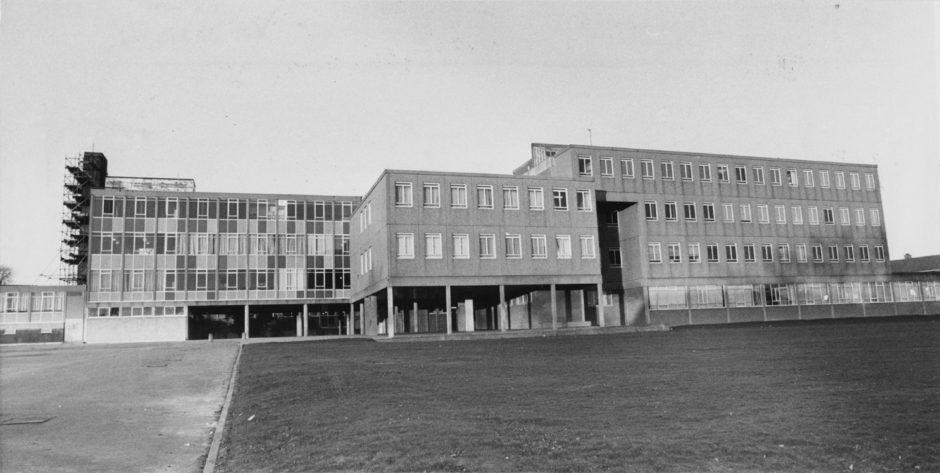 1987: Exterior of Summerhill Academy.