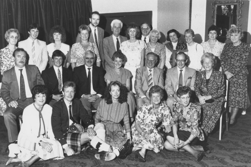 1990: Past and present staff of Summerhill Academy at their dinner in the Stakis Tree Tops Hotel, Aberdeen, to mark the school's closure after 28 years. Seated centre is head teacher Miss Patricia Cormack.