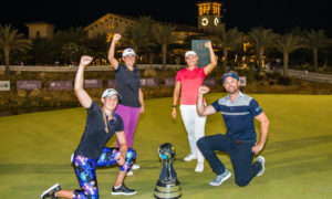 Team Pedersen, featuring Emily Pedersen, Michele Thomson (top left), Casandra Hall and amateur Matt Selby.