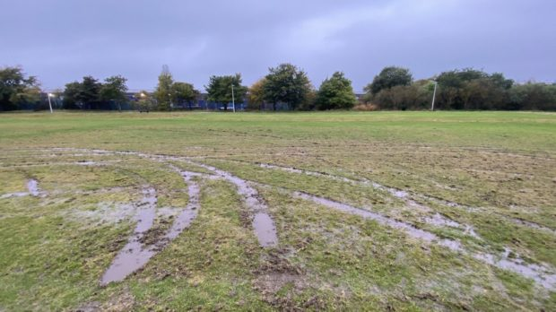 The pitches used by Dyce Boys' Club were damaged by vandals.