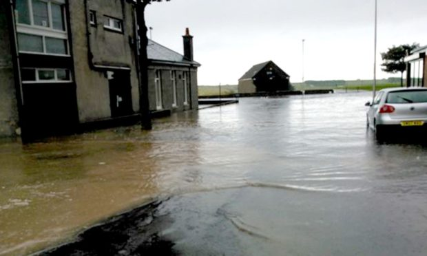 Work to repair a footpath will be carried out this week after bad flooding in August.