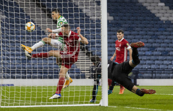 Celtic's Mohamed Elyounoussi makes it 2-0 against Aberdeen at Hampden