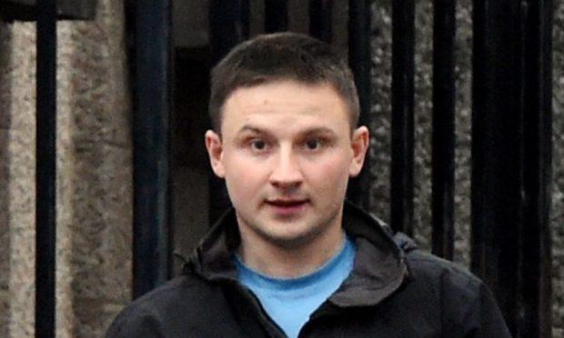 Damian Wawrzyniak leaving court.