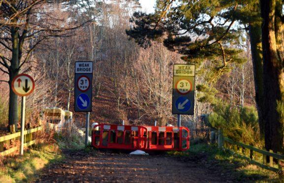 Park Bridge has been closed since last year.