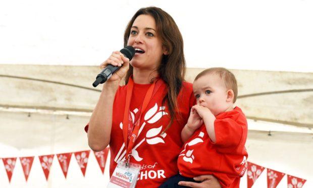 Sarah-Jane Hogg with Sienna Hogg.