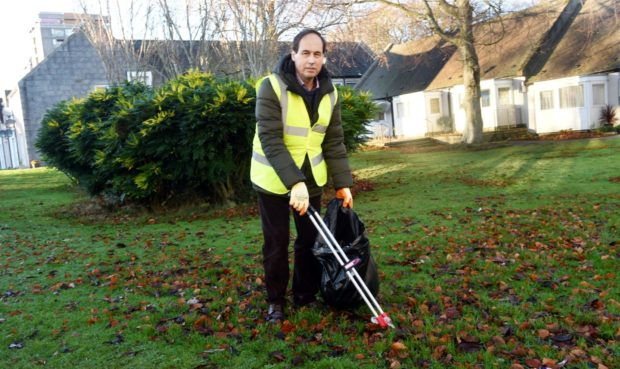 Councillor Martin Greig has launched a litter crusade