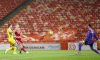 Sam Cosgrove scores his comeback goal against Hibs.