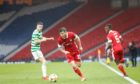 Aberdeen winger Matty Kennedy in action against Celtic in the Scottish Cup semi-final last month.