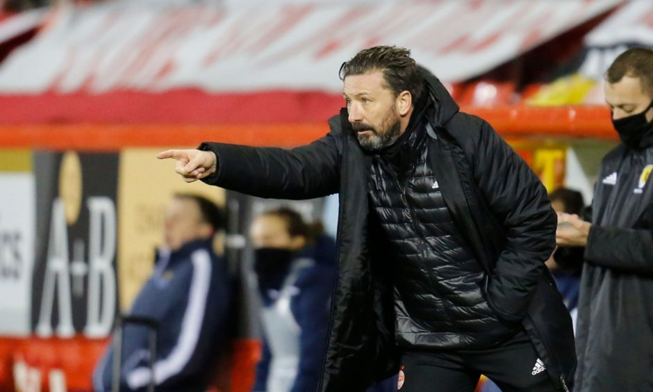 Aberdeen manager Derek McInnes during the win over St Johnstone at Pittodrie.
