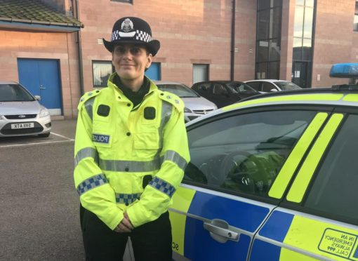 To go with story by Annette Cameron. On the Beat Picture shows; Insp Jennifer Cordiner . n/a. Supplied by Police Scotland Date; Unknown