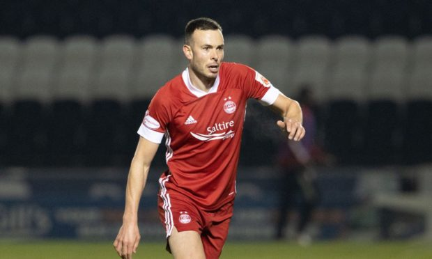 Andy Considine in action in the 2-1 Betfred Cup loss to St Mirren