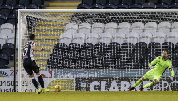 Jamie McGrath levels from the spot for St Mirren.