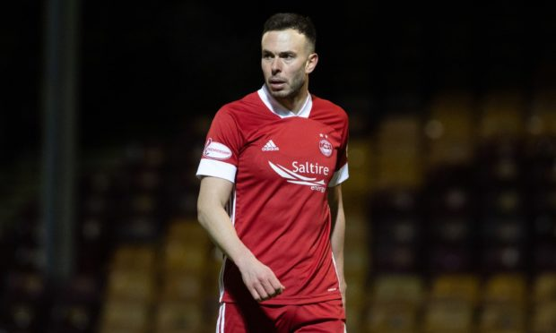 Aberdeen's Andy Considine in action.