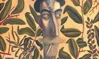 Leafy self-portrait, John Byrne