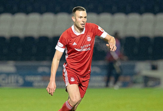 Andy Considine in action against St Mirren on Saturday.