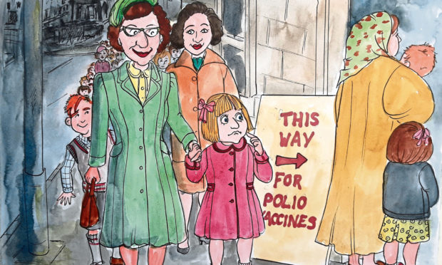 I have a memory of joining a huge line of folk outside the Athenaeum Hotel to get the polio vaccine.