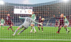 Hearts' Liam Boyce starts his team's fightback in the 2019/20 Scottish Cup final against Celtic at Hampden.
