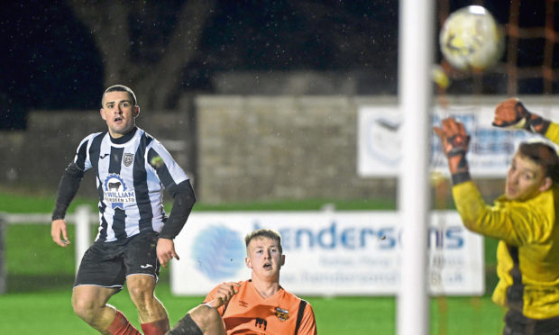 Scott Barbour nets for Fraserburgh against Rothes in the first round of the Scottish Cup.